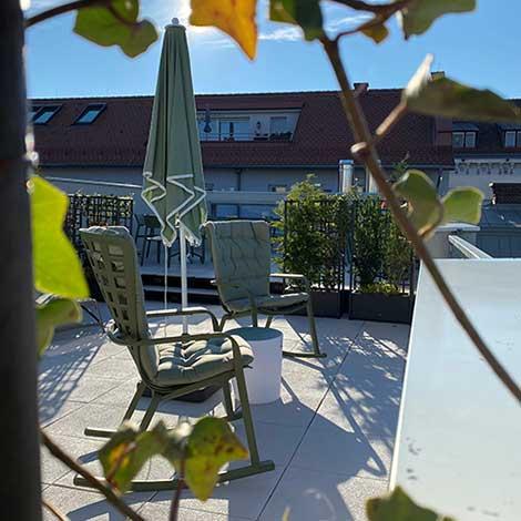 Dachterrasse im Hotel Gollner Graz